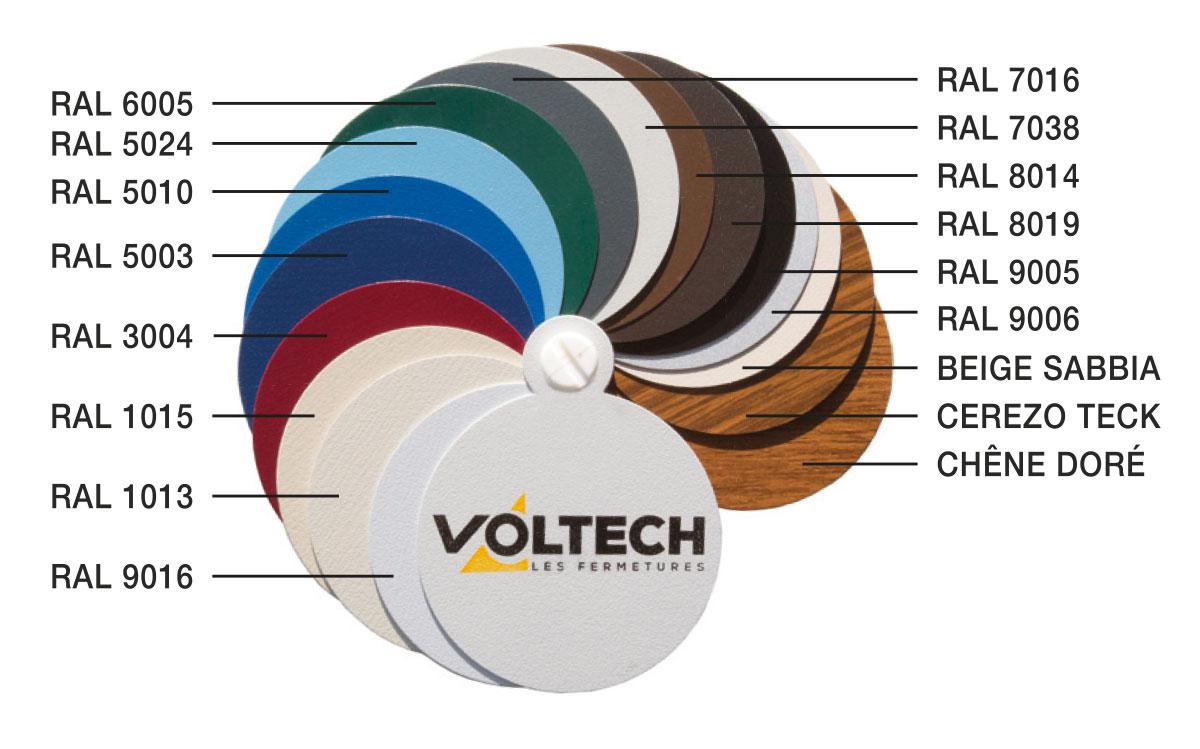 Un large choix de couleurs pour le volet roulant traditionnel