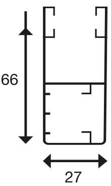 Coulisse UPS 66 Pour volet avec lame RS5